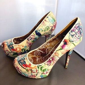 NEW 🌷FLORAL SEQUINED DOLLHOUSE SHOES